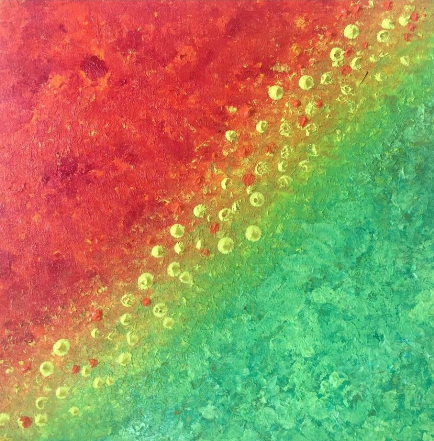 Coulée de lave de couleur partie 1