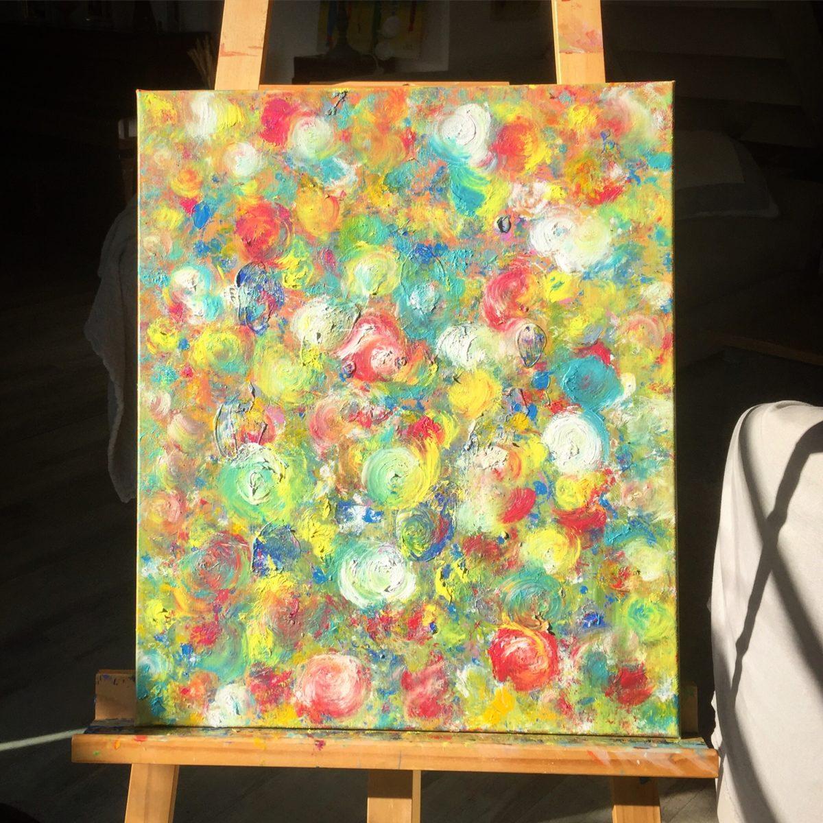 Peinture à l'Huile fleurie