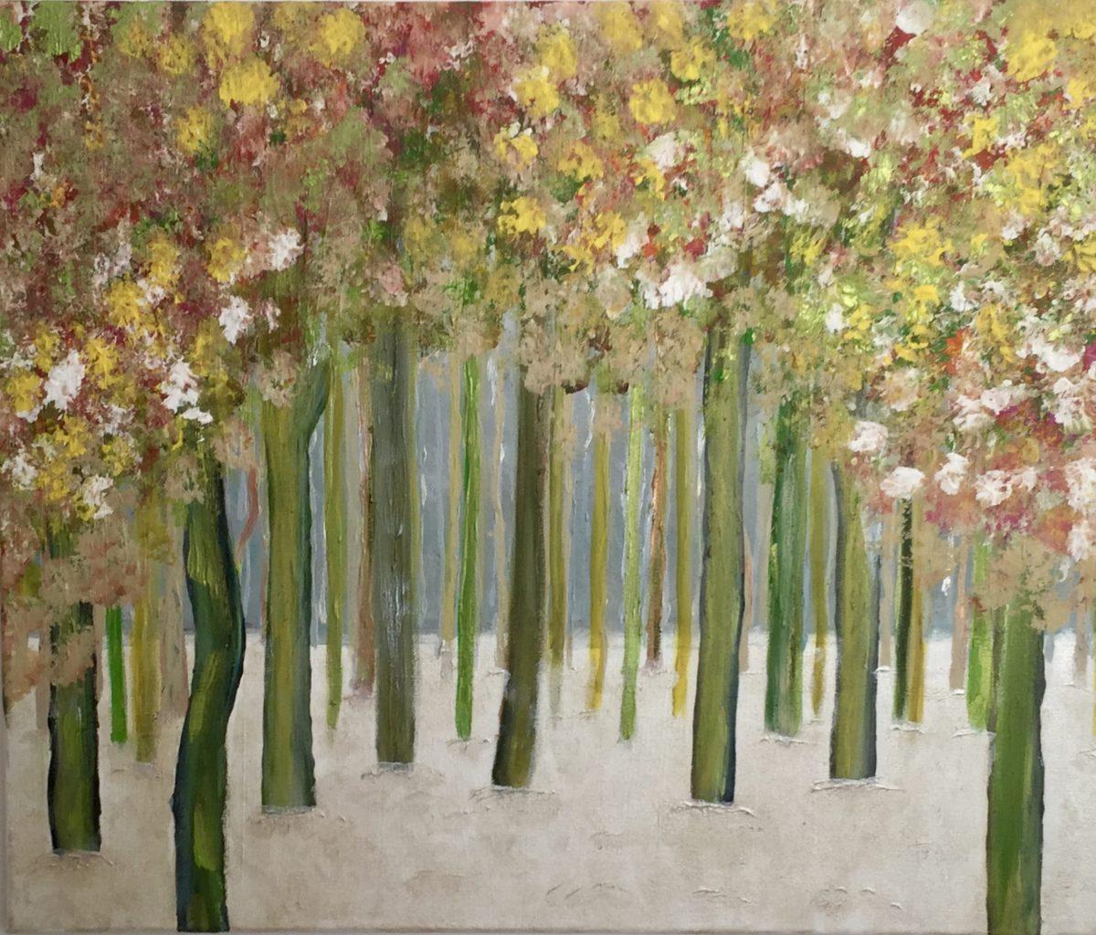 Peinture à l'Huile forêt enneigée